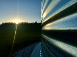 Bazooka Farmstar Grain Augers with Sunset