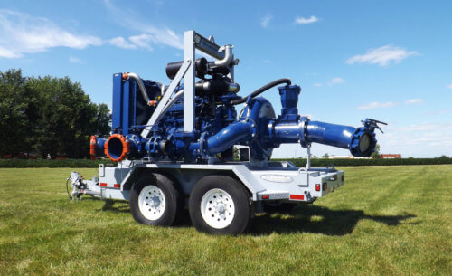 Side View of Pump and Engine on Pump Trailer