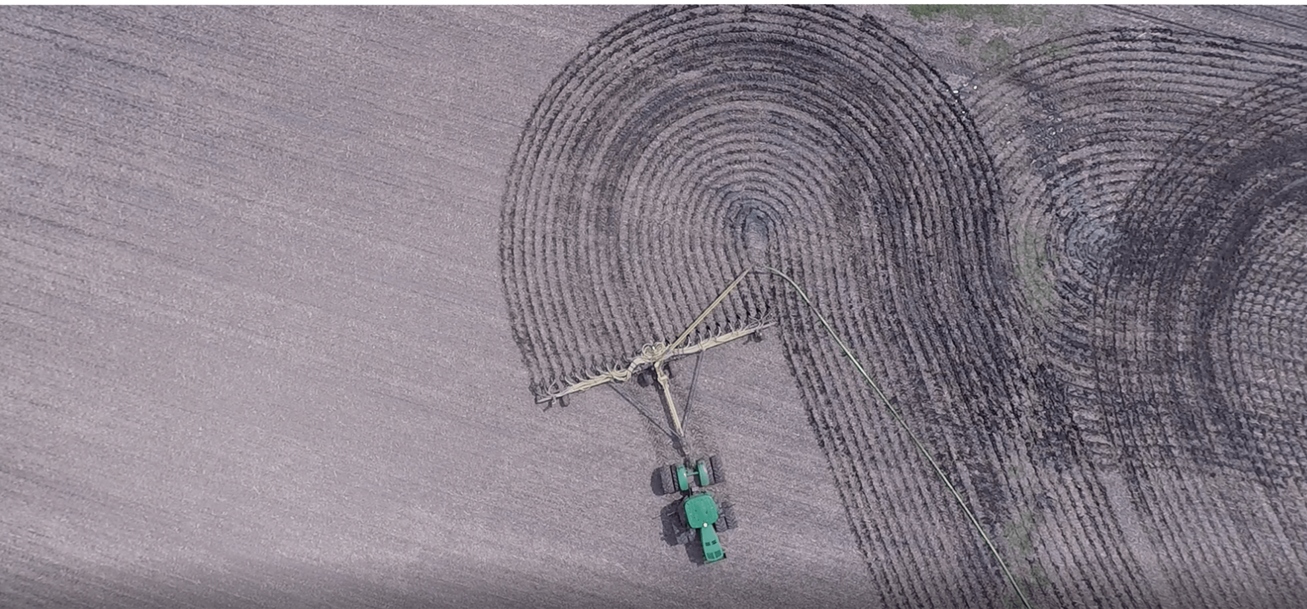 Overhead View Manure Injection Equipment